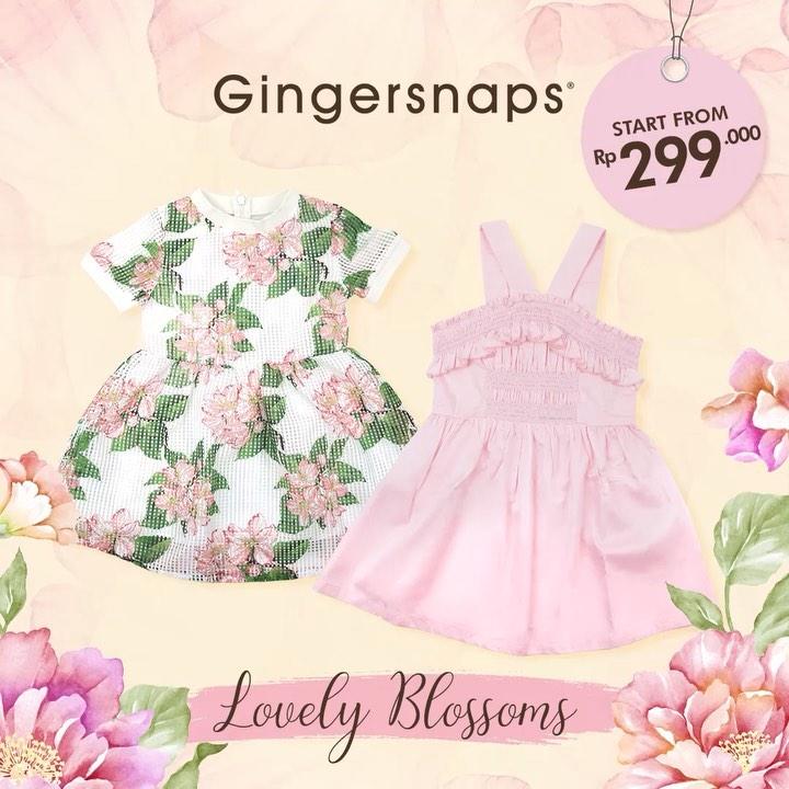 Gingersnaps Promo Harga Spesial untukKoleksi New Lovely Blossoms