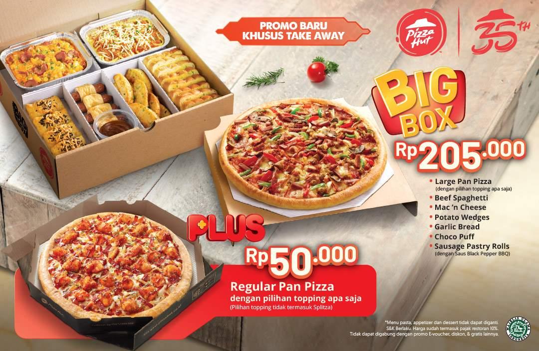 PIZZA HUT Promo Spesial untuk Regular Pan Pizza cuma Rp.50.000 setiap pembelian BIG BOX