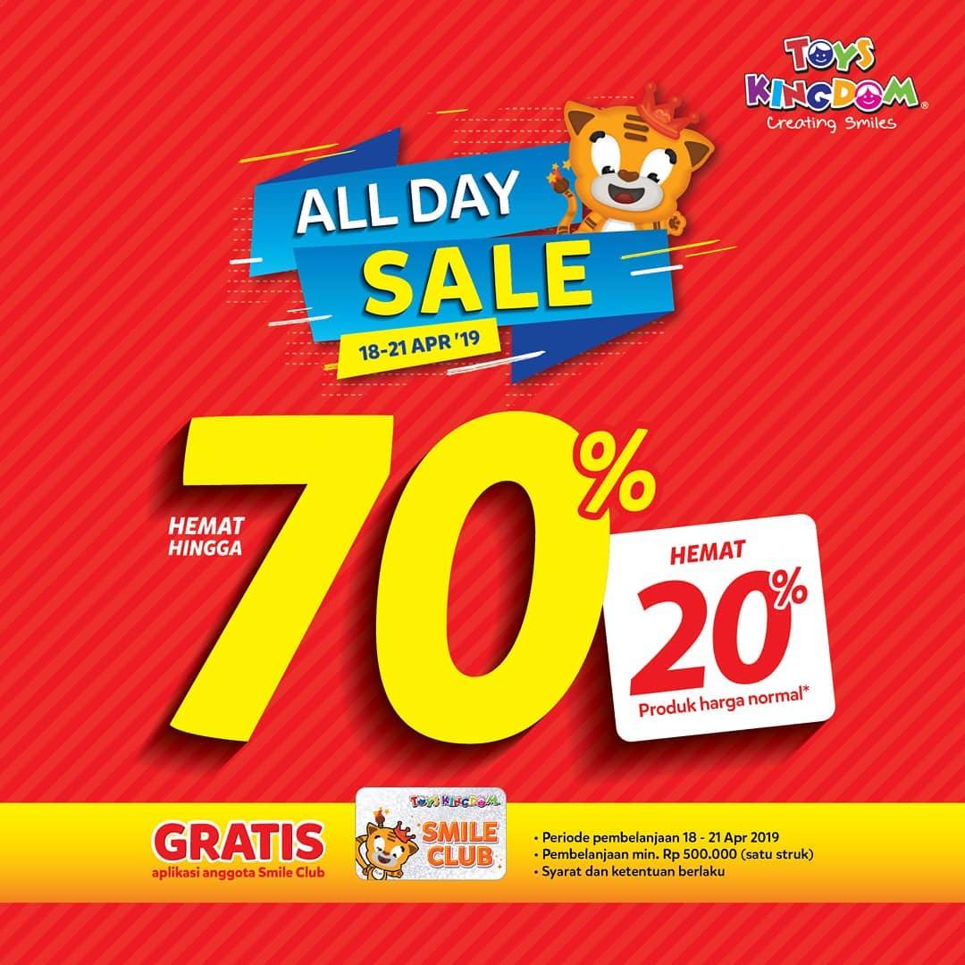 Toys Kingdom Promo ALL DAY SALE Hemat Hingga 70% & Hemat 10%