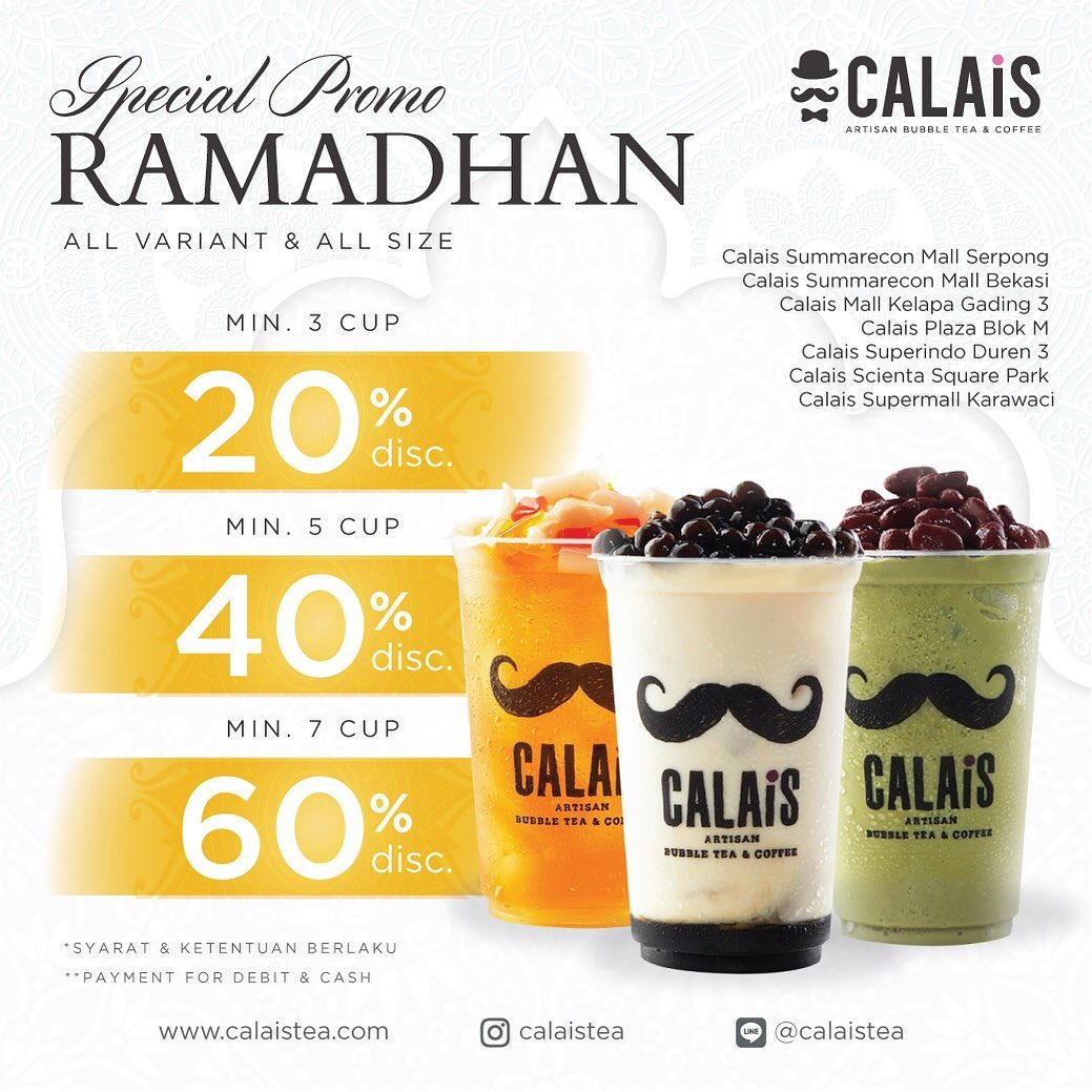 Diskon CALAIS TEA Special Promo Ramadhan Disc Up To 60%