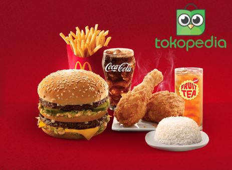 Tokopedia Promo Beli Voucher Makan McDonald's Cashback 25Rb