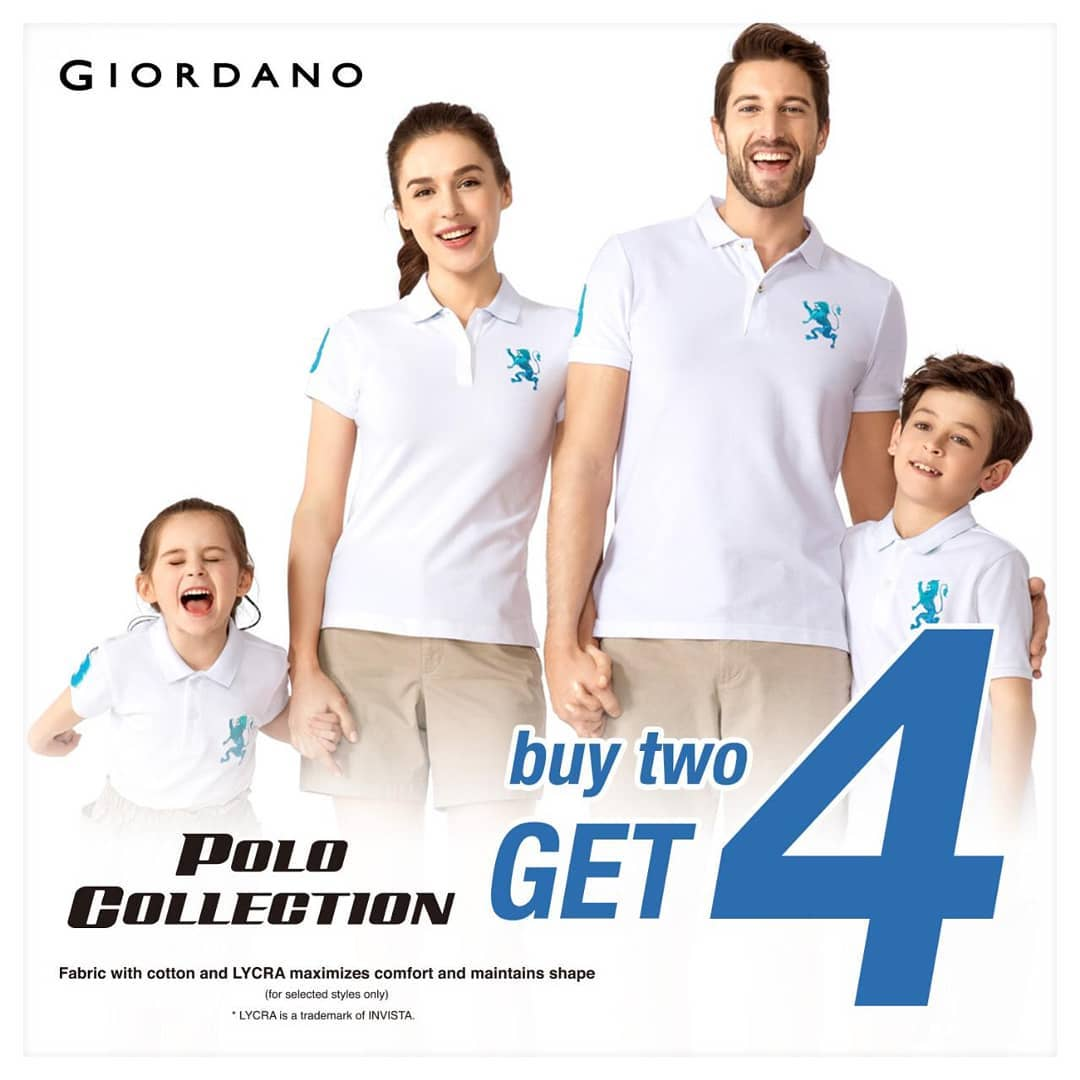GIORDANO POLO COLLECTION BUY 2 GET 4