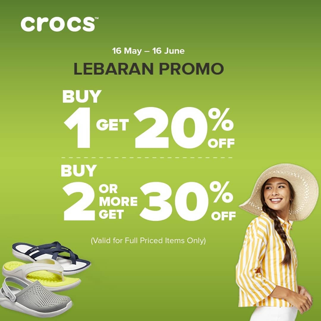 Crocs Lebaran Promo Buy More Save More up to 30% off