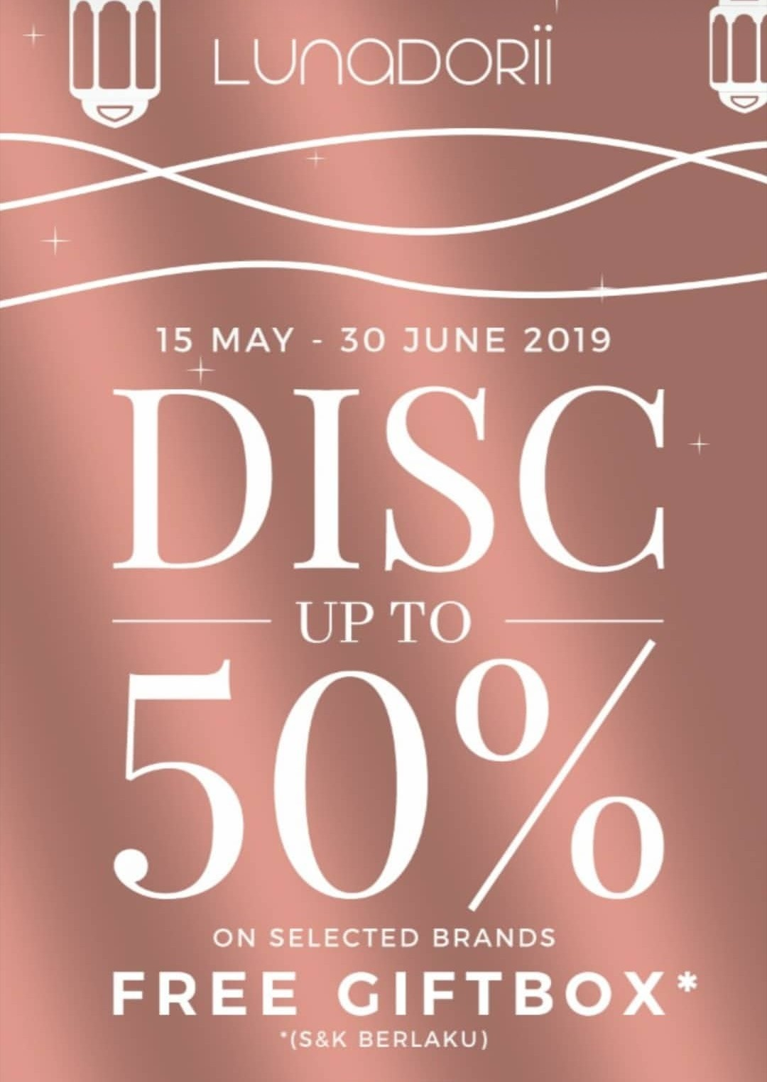 LUNADORII Promo Discount Up to 50% on selected brands + Free Giftbox
