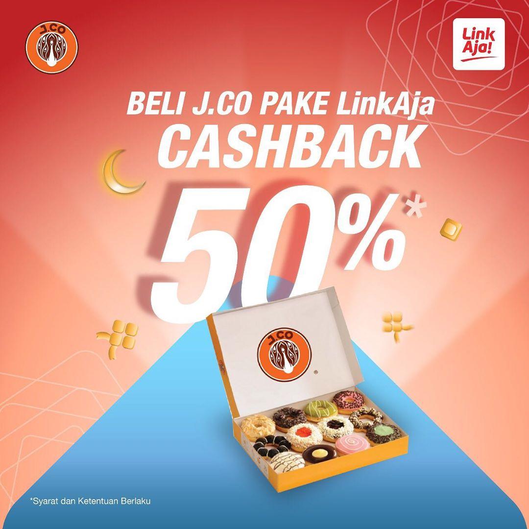 Diskon JCO Promo Cashback 50% dengan LinkAja