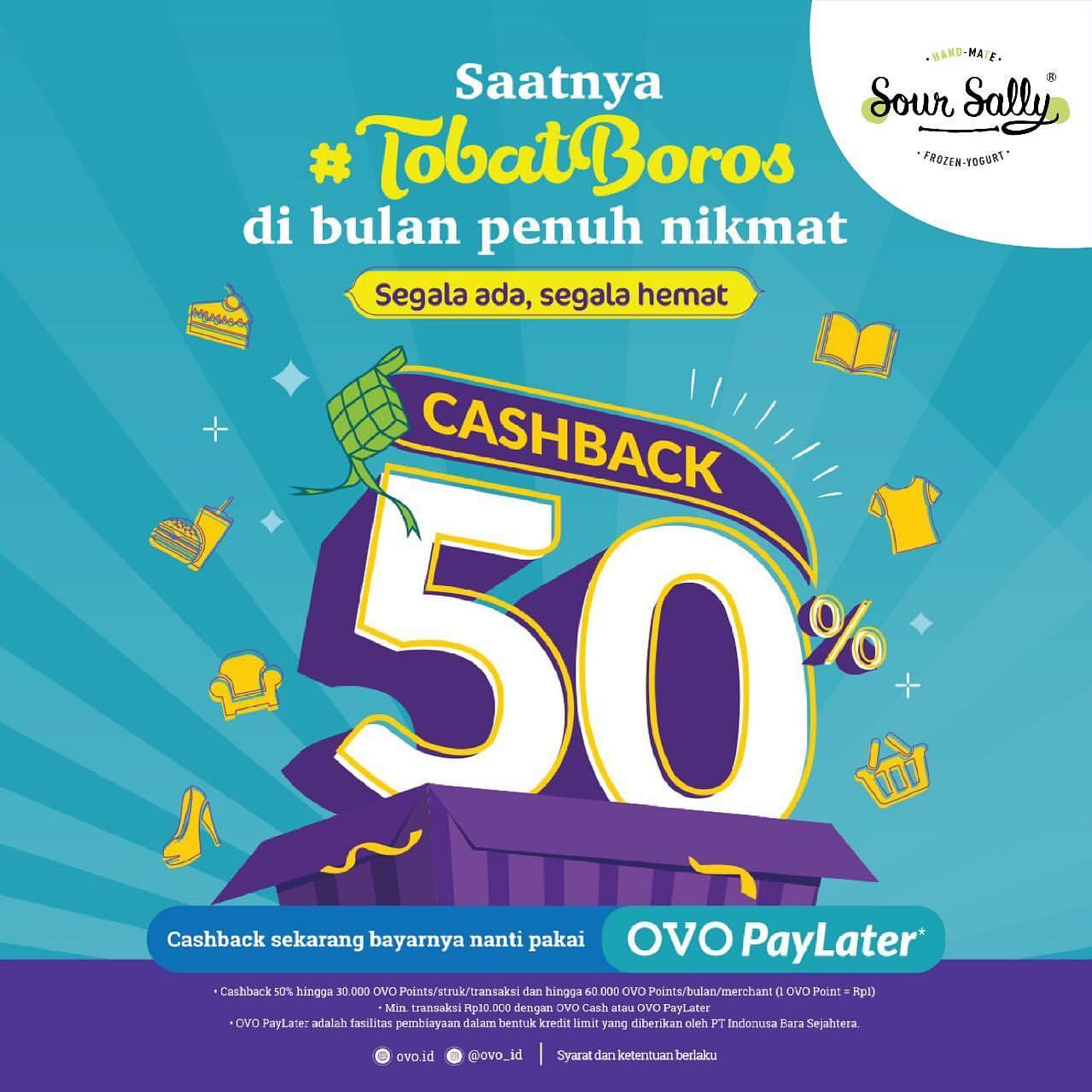 SOUR SALLY Promo Cashback 50% dengan OVO