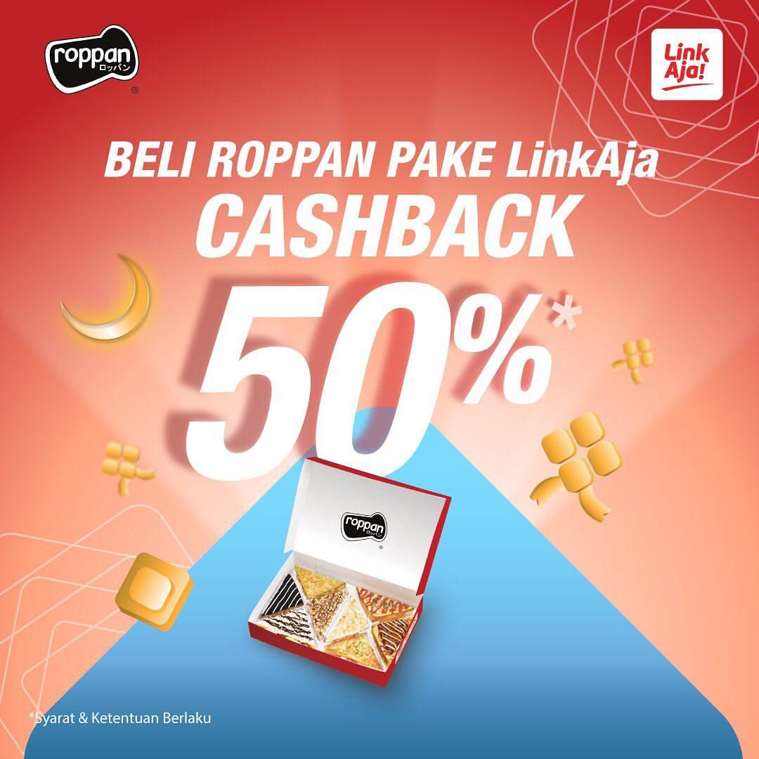 ROPPAN Promo CASHBACK 50% dengan LinkAja