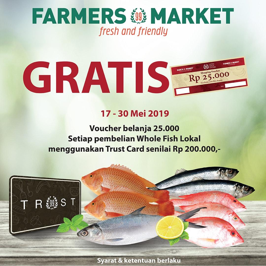 FARMERS MARKET Promo GRATIS Voucher Belanja Rp.25.000 dengan Trust Card
