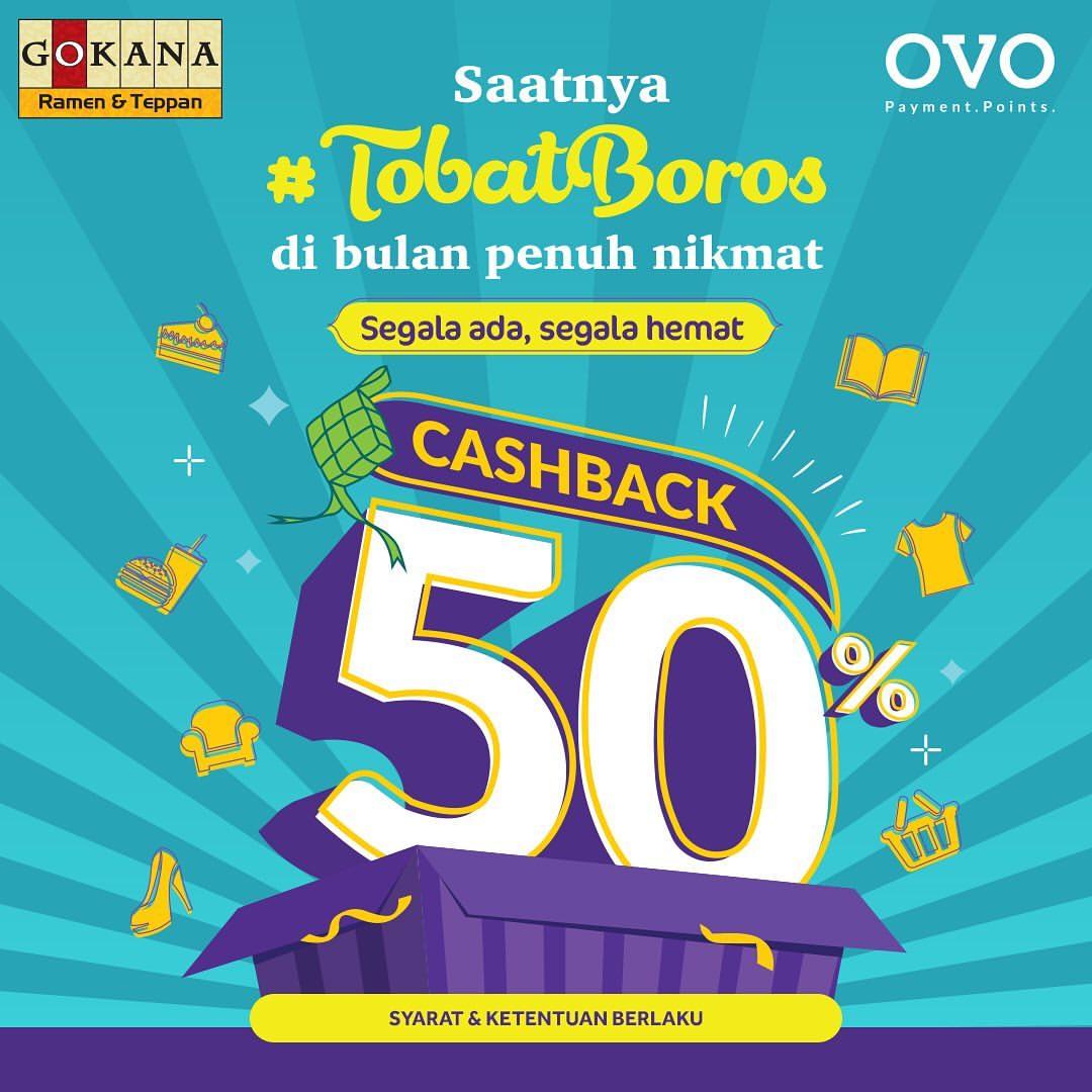 GOKANA Promo #TobatBoros Cashback 50% dengan OVO