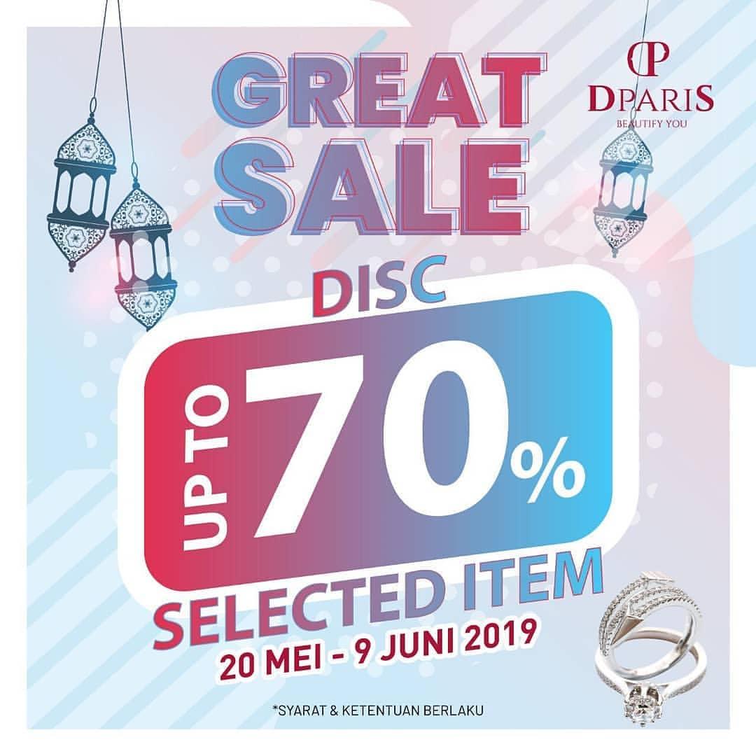 D'Paris Great Sale Diskon Sampai 70% untuk Item Tertentu