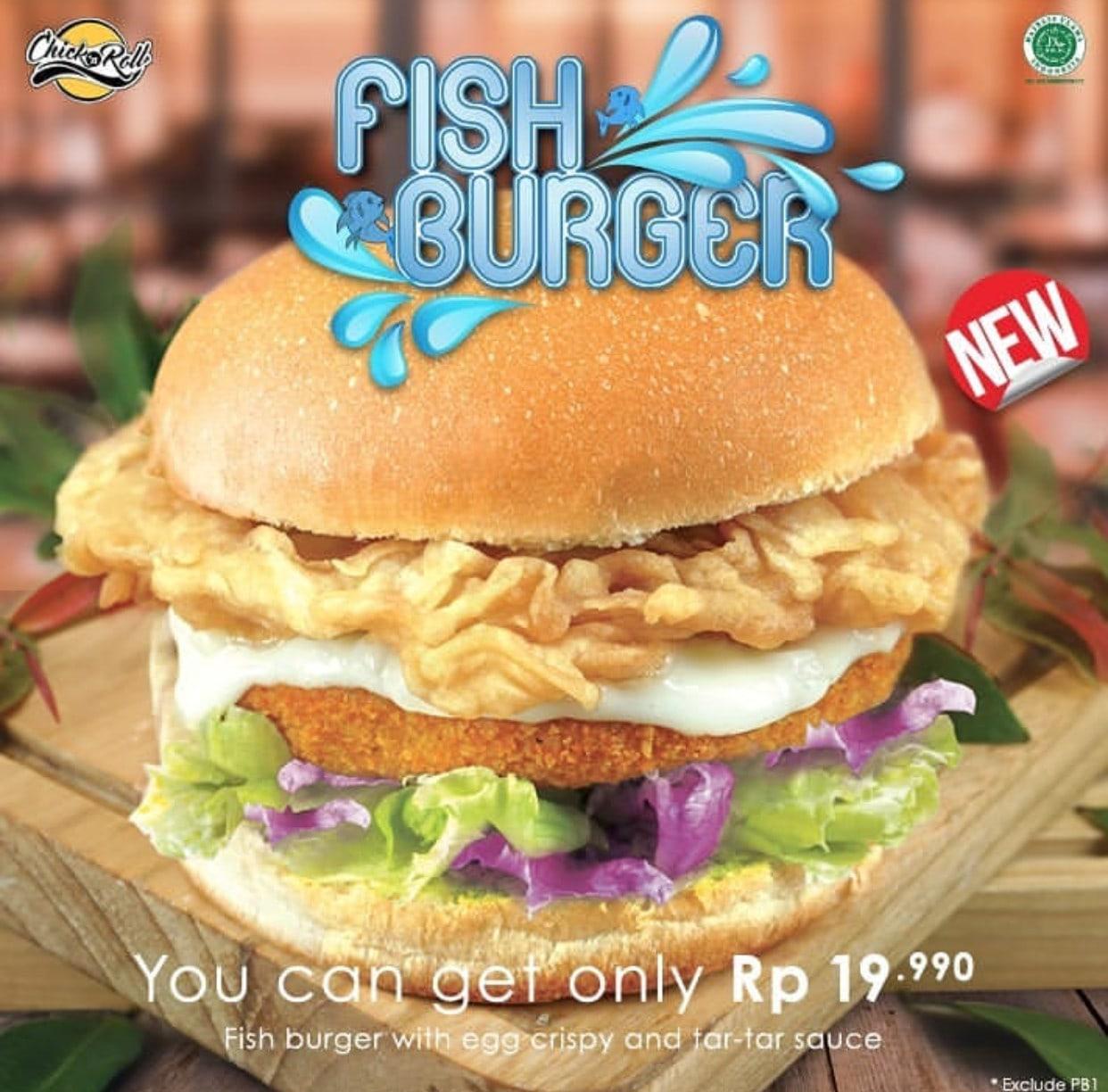 CHICK 'n ROLL New FISH BURGER Harga hanya Rp.19.990