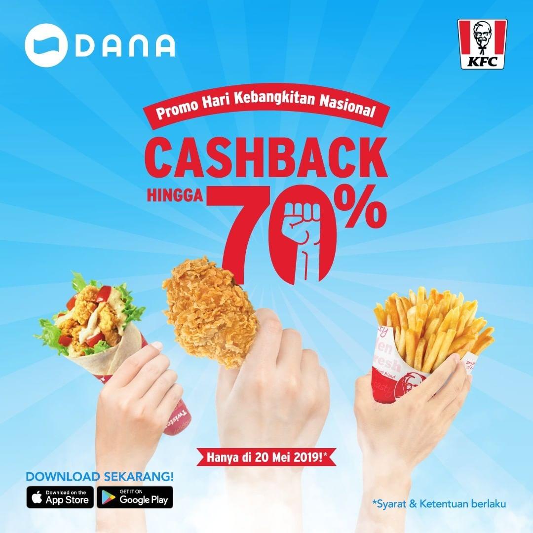 KFC Promo Hari Kebangkitan Nasional Cashback 70% dengan DANA