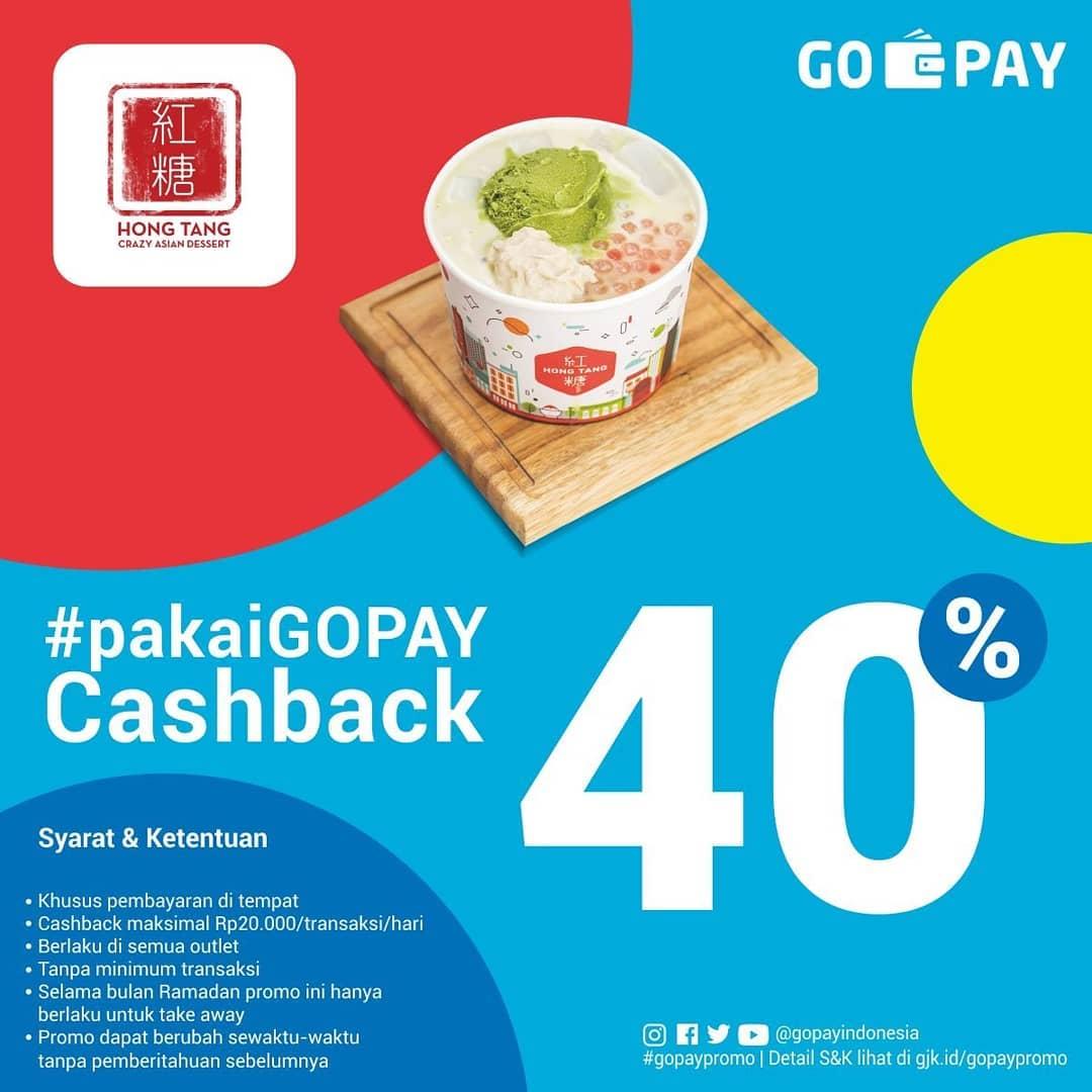 HONG TANG Promo CASHBACK 40% dengan GOPAY