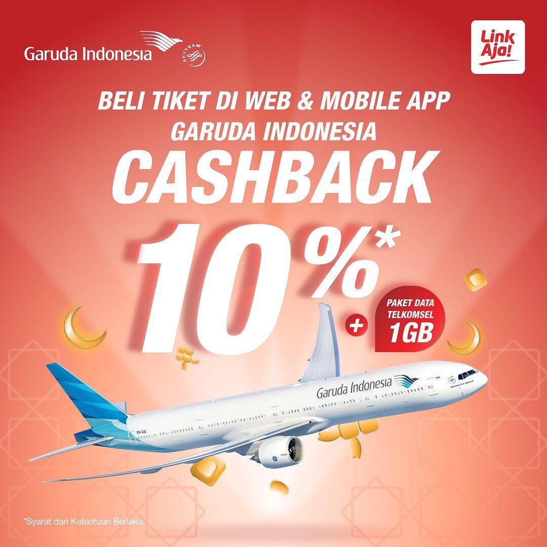 Garuda Indonesia Promo Cashback 10% dengan LinkAja