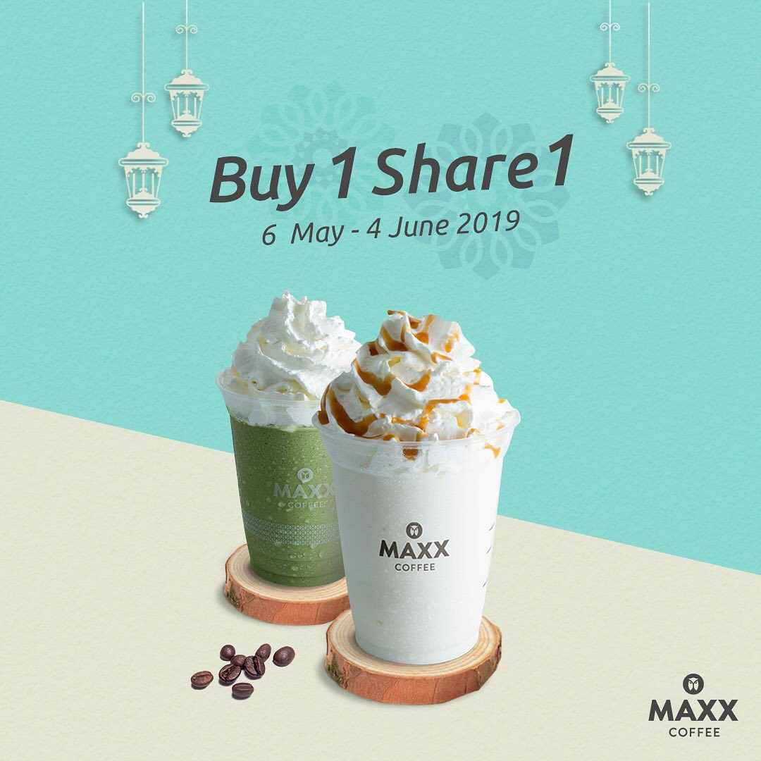 Maxx Coffee Promo Buy 1 Get 1 untuk Minuman Ukuran Medium