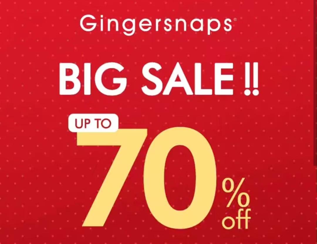 Gingersnaps Promo Big Sale, Diskon Hingga 70%