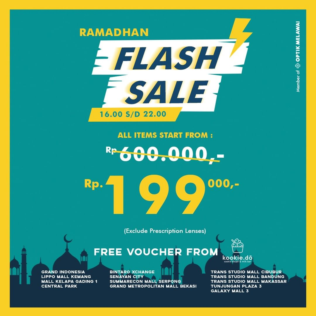 Diskon BRIDGES EYEWEAR Ramadan Flash Sale ALL ITEMS start from Rp.199.000