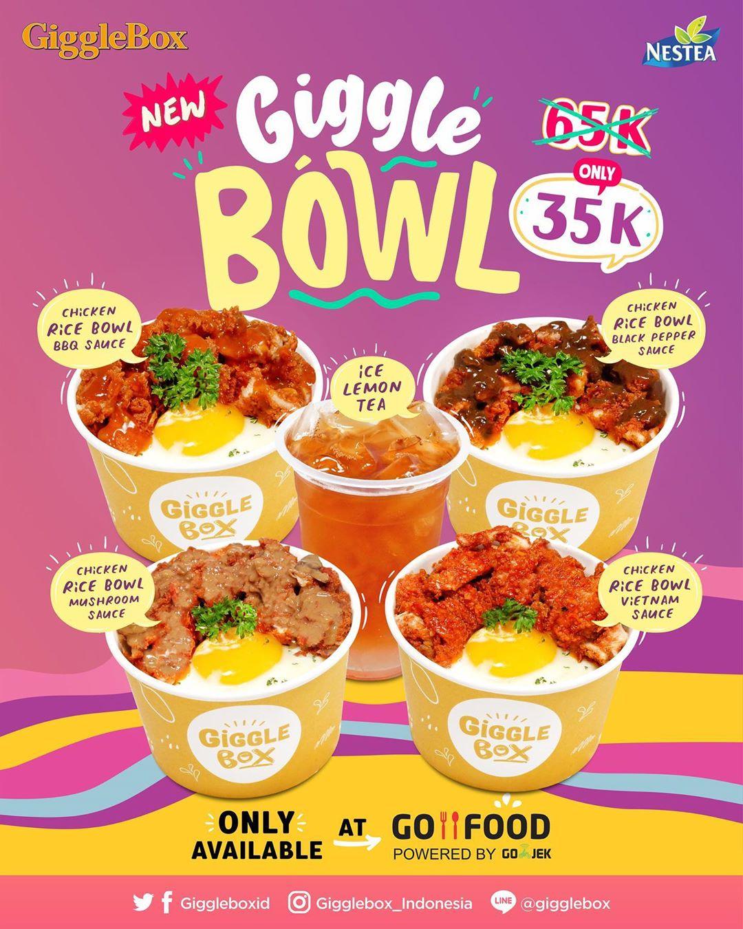 Diskon Giggle Box New GiggleBowlz Harga Spesial Rp. 35.000 via GOFOOD