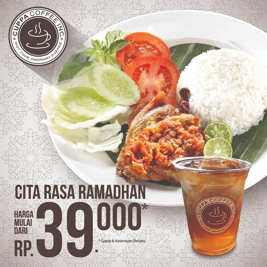 Cuppa Coffee Promo Menu Cita Rasa Ramadhan Harga mulai Rp. 39.000