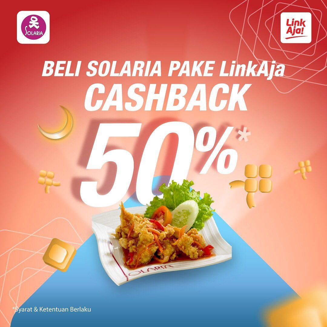 SolariaPromo Cashback 50% dengan LinkAja