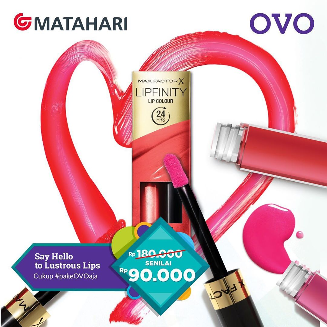 Diskon Matahari Department Store Promo Harga Spesial Max Factor Lipfinity Lip Colour hanya Rp.90.000
