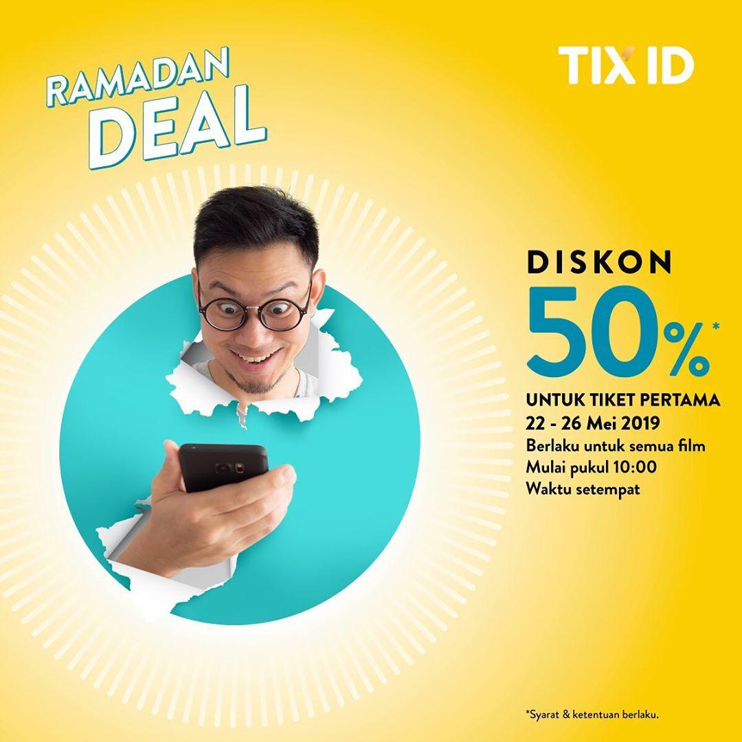 TIX ID Promo Diskon 50% Untuk Tiket Pertama semua Film