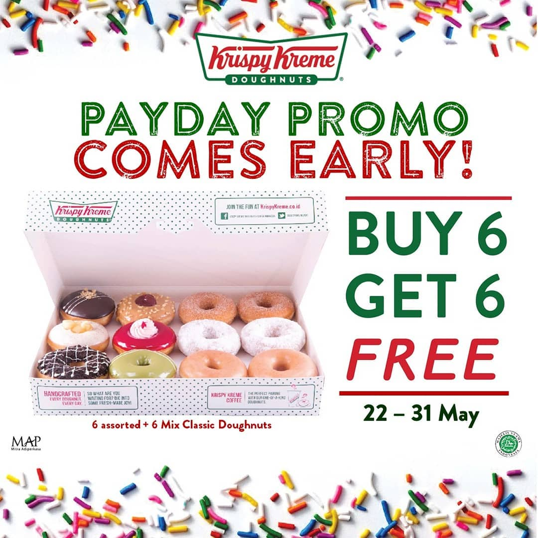 Krispy Kreme Payday Promo is Back! BELI 6 GRATIS 6 Doughnuts