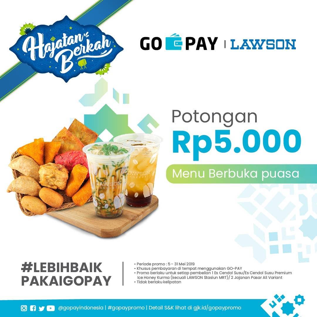 Lawson Promo Hajatan Berkah Potongan Rp. 5.000 untuk Menu Berbuka Puasa dengan GOPAY