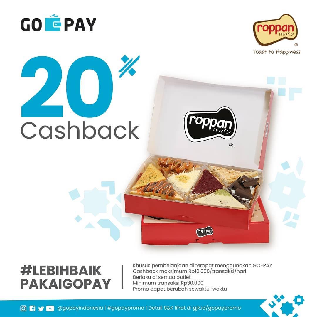 Diskon ROPPAN Promo CASHBACK 20% dengan GO-PAY