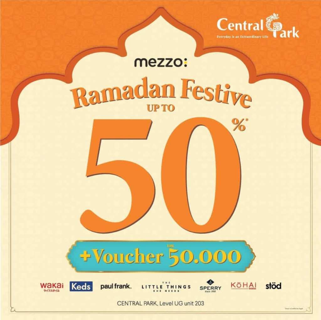 Mezzo Store Ramadan Festive Promo Discount Up to 50% + Voucher IDR 50.000