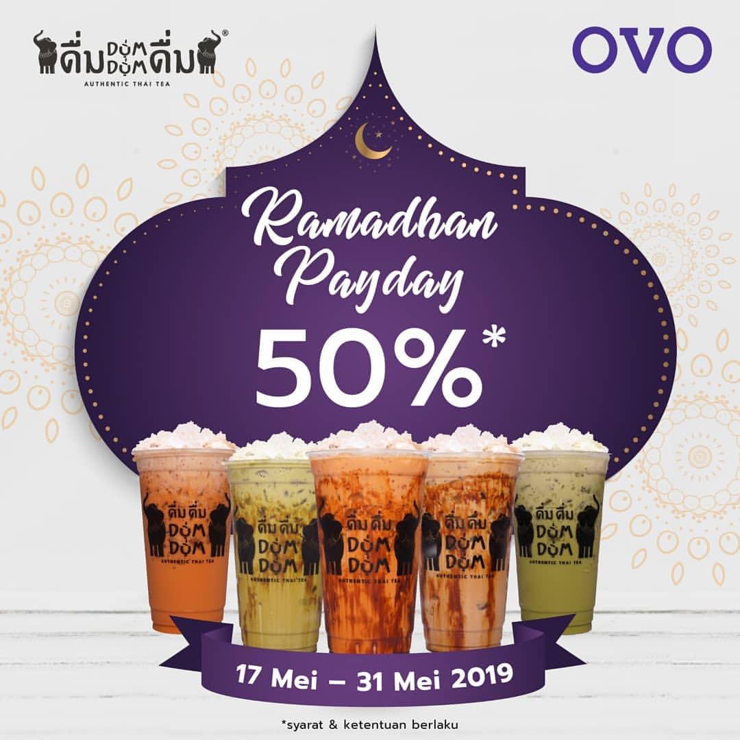 Dum Dum Thai Tea Promo Ramadhan Payday Cashback 50% dengan OVO
