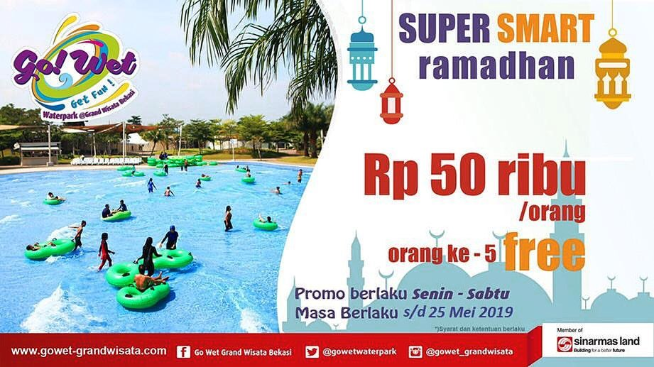Diskon Go Wet Waterpark Promo Super Smart Ramadhan, HTM Cuma Rp. 50.000