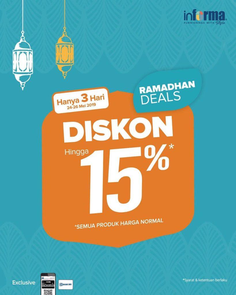 Diskon INFORMA Ramadhan Deals EKSTRA DISKON hingga 15%