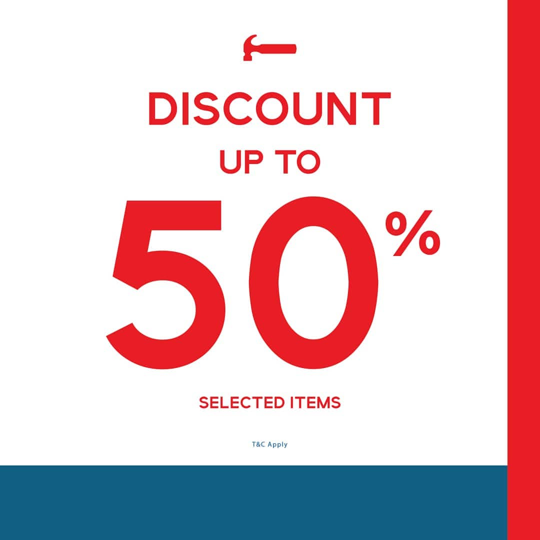 HAMMER Promo Discount Up to 50% for selected items