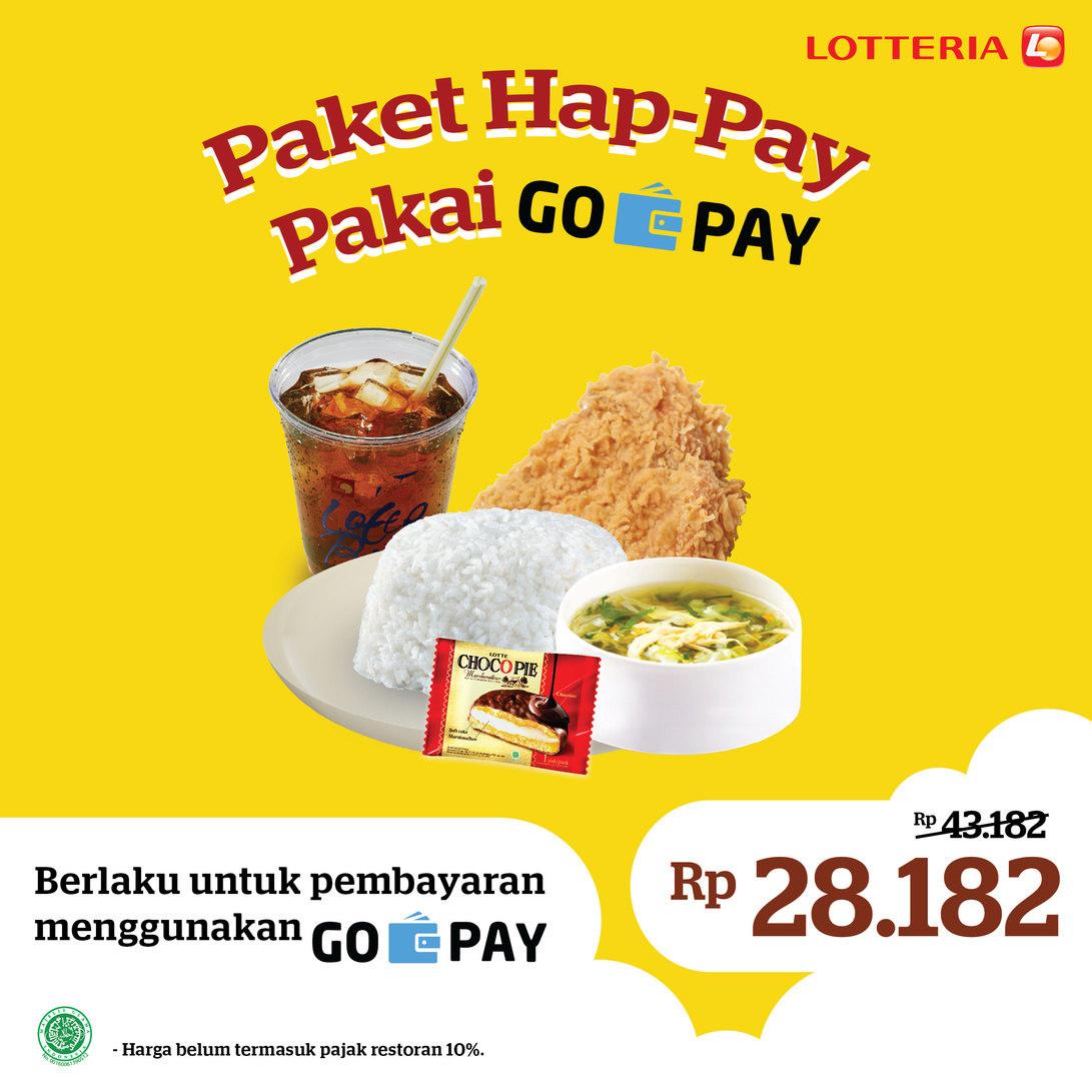 Lotteria Promo Paket Happy Rp.28.182 dengan GoPay