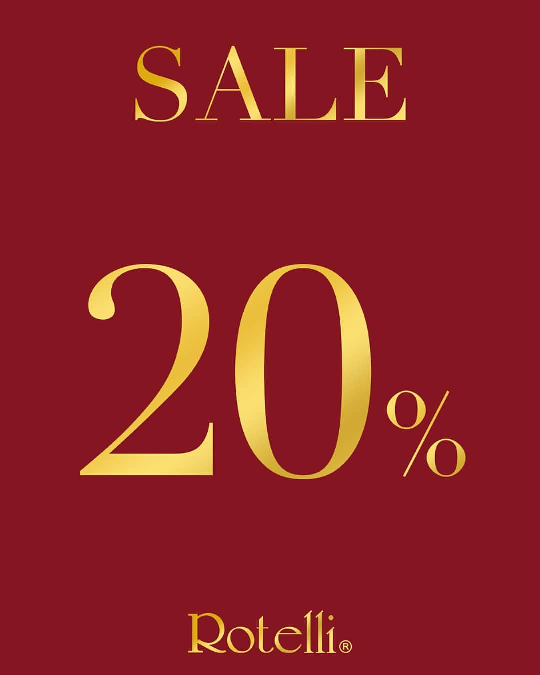 Diskon ROTELLI Blissful Sale Discount 20% Off Reguler Priced Items