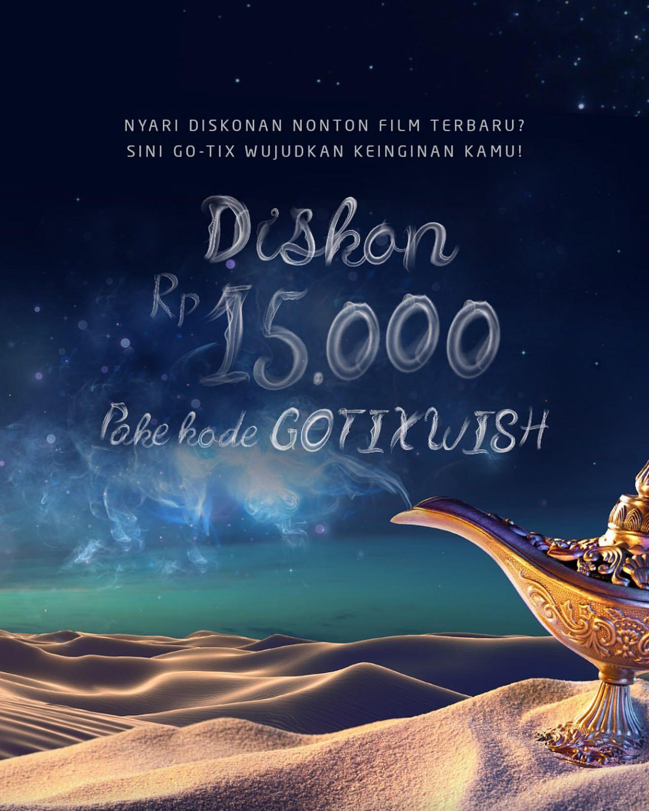 Diskon GO-TIX Promo DISKON Rp.15.000 Tiket Nonton
