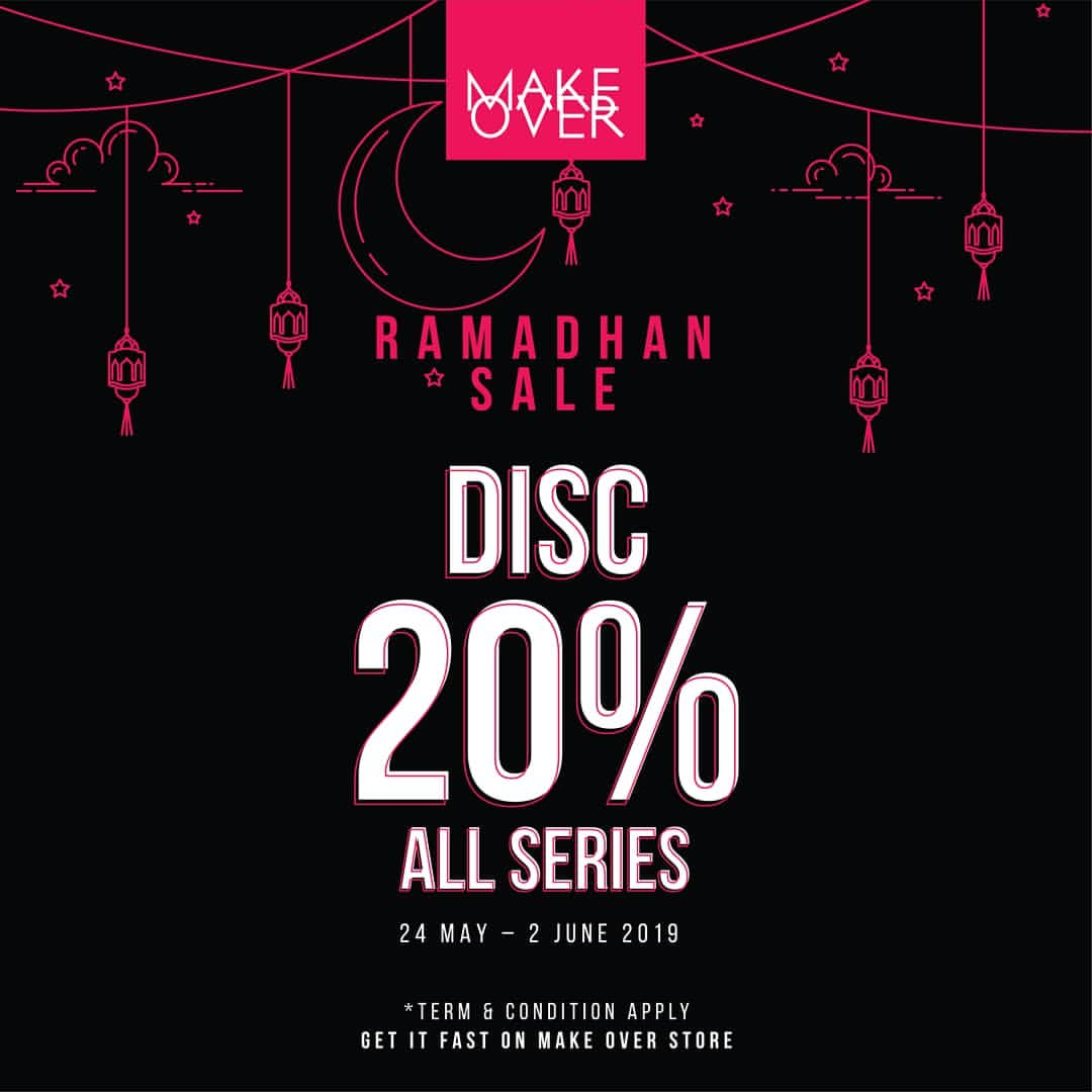 MAKE OVER Ramadhan Sale Promo Discount 20% All Series