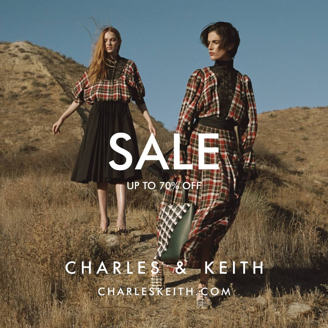 CHARLES & KEITH Promo Sale Up to 70% off