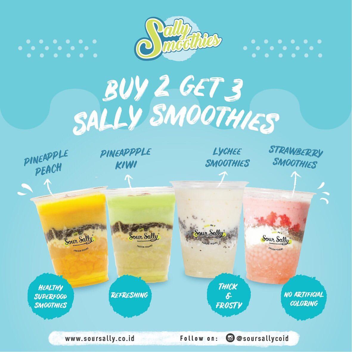 SOUR SALLY Promo BELI 2 GRATIS 1 untuk Sally Smoothies