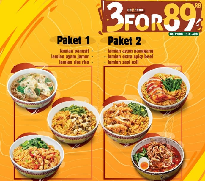 Golden Lamian Promo Spesial Kupon Line, Beli 3 Cuma Rp. 89.000!