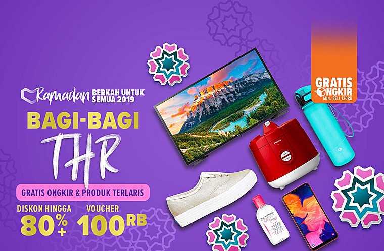 Lazada Promo THR Diskon Hingga 80% + Voucher Rp 100.000