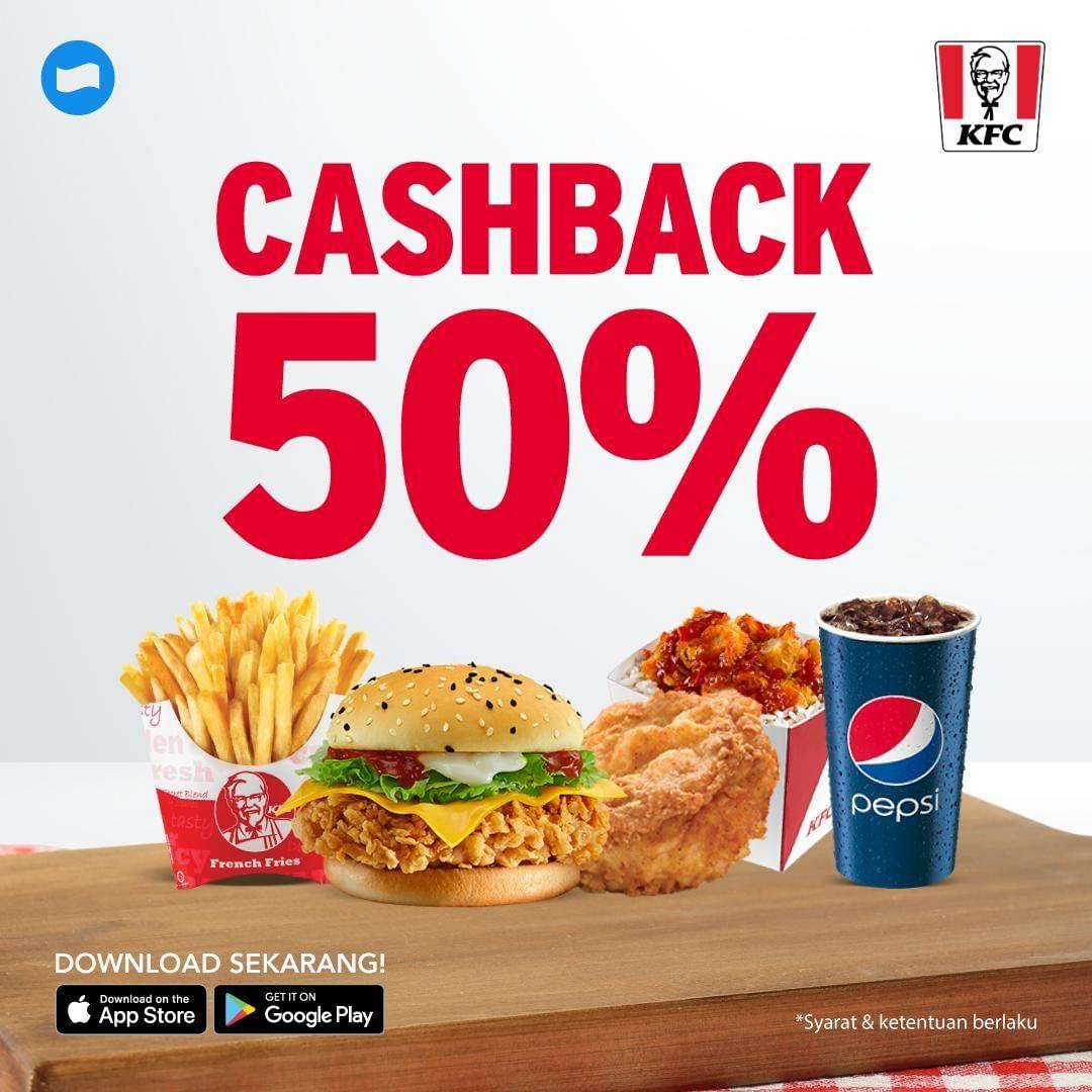 Diskon KFC Promo Cashback 50% dengan Dana