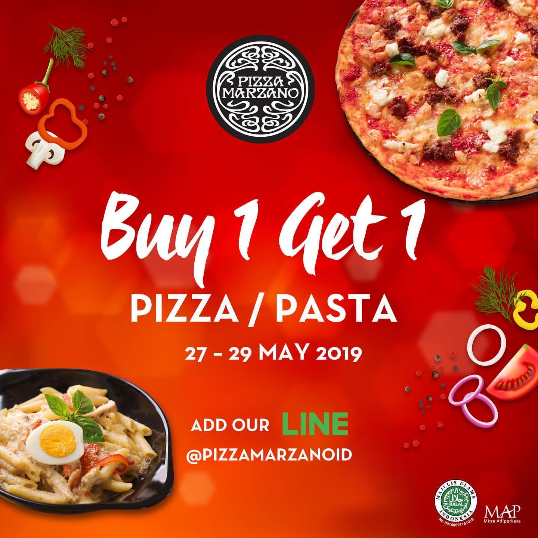 Pizza Marzano Payday Promo Beli 1 Gratis 1 Dengan Kupon Line