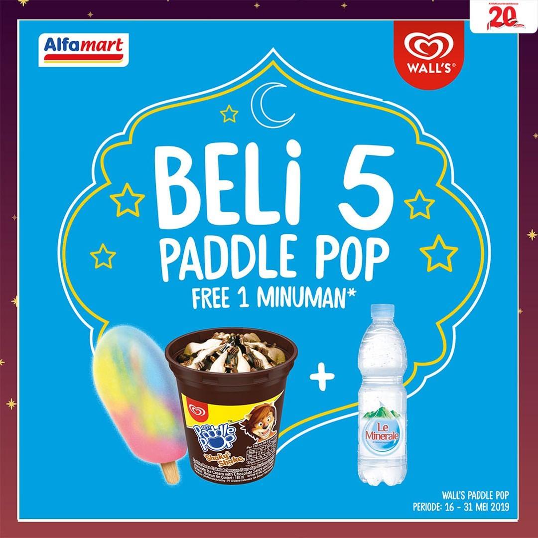 Diskon Alfamart Promo Beli 5 Paddle Pop Gratis 1 Minuman