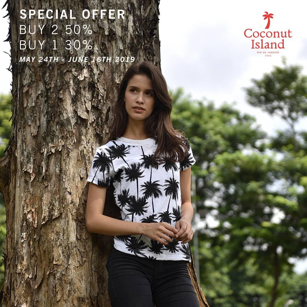 Coconut Island Promo Spesial Beli 2 Diskon 50%, Beli 1 Diskon 30%