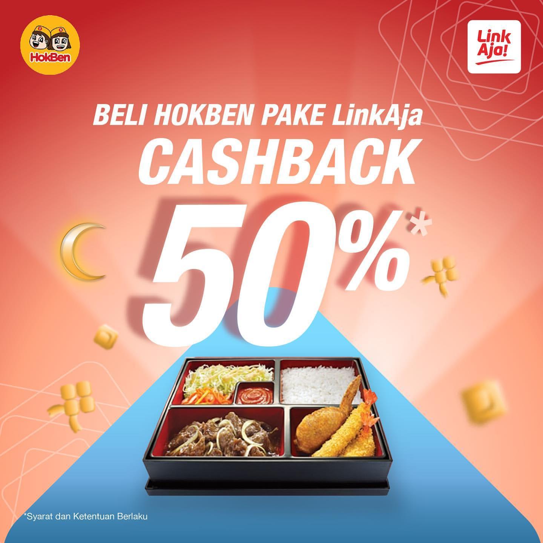 Hokben Promo Cashback 50% dengan LinkAja