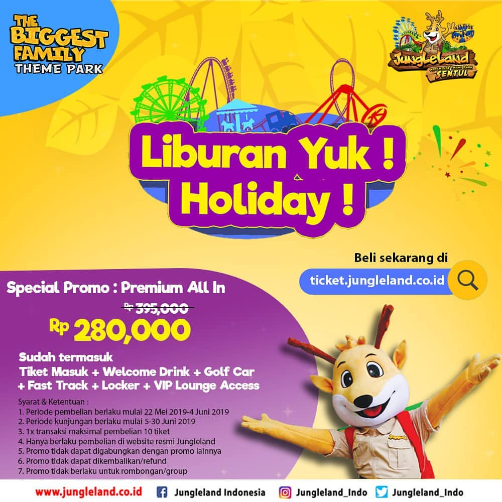 Jungleland Promo Premium All in one package spesial libur lebaran