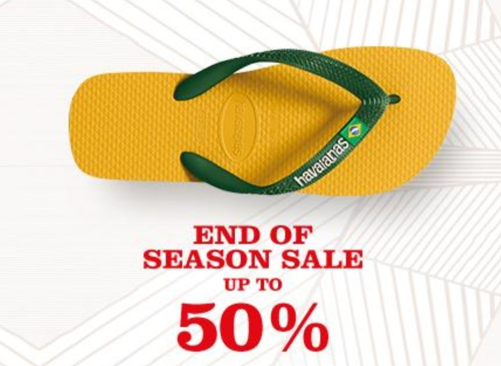 Havaianas Promo End Of Season Sale, Diskon 50% + 10%