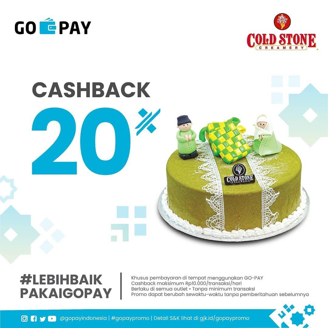 Diskon Cold Stone Promo Cashback 20% dengan GOPAY